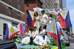 NYC : Défilé de Jour de la Déclaration d'Indépendance de Philippines Photos libres de droits