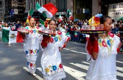 NYC : Défilé mexicain de Jour de la Déclaration d'Indépendance photo stock