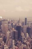 NYC da sopra tonificato Immagini Stock