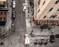 NYC dalla via Immagini Stock Libere da Diritti