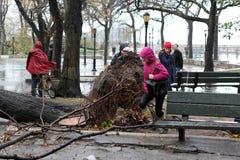 NYC Damage - Hurricane Sandy Royalty Free Stock Photos