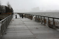 NYC Damage - Hurricane Sandy Royalty Free Stock Photography