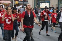 The 2015 NYC Dance Parade 2. Dance Parade New York is an entity of Dance Parade Inc. whose charitable mission is to promote dance as an expressive and unifying Stock Photography