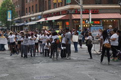 The 2015 NYC Dance Parade 6. Dance Parade New York is an entity of Dance Parade Inc. whose charitable mission is to promote dance as an expressive and unifying Stock Images