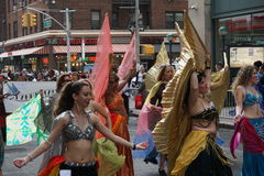 The 2015 NYC Dance Parade 8. Dance Parade New York is an entity of Dance Parade Inc. whose charitable mission is to promote dance as an expressive and unifying Stock Photography
