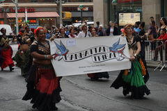 The 2015 NYC Dance Parade 13. Dance Parade New York is an entity of Dance Parade Inc. whose charitable mission is to promote dance as an expressive and unifying Royalty Free Stock Photography