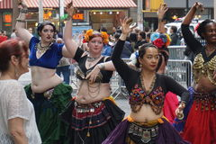 The 2015 NYC Dance Parade 15. Dance Parade New York is an entity of Dance Parade Inc. whose charitable mission is to promote dance as an expressive and unifying Stock Photo