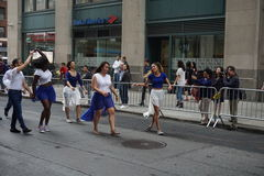 The 2015 NYC Dance Parade 16. Dance Parade New York is an entity of Dance Parade Inc. whose charitable mission is to promote dance as an expressive and unifying Stock Photography