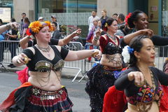 The 2015 NYC Dance Parade 19. Dance Parade New York is an entity of Dance Parade Inc. whose charitable mission is to promote dance as an expressive and unifying Royalty Free Stock Photos
