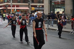 The 2015 NYC Dance Parade 20. Dance Parade New York is an entity of Dance Parade Inc. whose charitable mission is to promote dance as an expressive and unifying Royalty Free Stock Photo