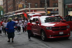 The 2015 NYC Dance Parade 22. Dance Parade New York is an entity of Dance Parade Inc. whose charitable mission is to promote dance as an expressive and unifying Royalty Free Stock Images