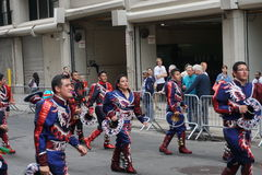 The 2015 NYC Dance Parade 23. Dance Parade New York is an entity of Dance Parade Inc. whose charitable mission is to promote dance as an expressive and unifying Royalty Free Stock Image