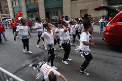 The 2015 NYC Dance Parade 24. Dance Parade New York is an entity of Dance Parade Inc. whose charitable mission is to promote dance as an expressive and unifying Royalty Free Stock Photos