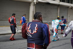 The 2015 NYC Dance Parade 27. Dance Parade New York is an entity of Dance Parade Inc. whose charitable mission is to promote dance as an expressive and unifying Stock Photo