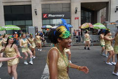 The 2015 NYC Dance Parade 44. Dance Parade New York is an entity of Dance Parade Inc. whose charitable mission is to promote dance as an expressive and unifying Royalty Free Stock Photography