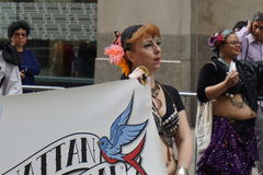 The 2015 NYC Dance Parade 70. Dance Parade New York is an entity of Dance Parade Inc. whose charitable mission is to promote dance as an expressive and unifying Stock Image