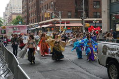The 2015 NYC Dance Parade 75. Dance Parade New York is an entity of Dance Parade Inc. whose charitable mission is to promote dance as an expressive and unifying Stock Image