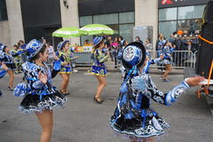 The 2015 NYC Dance Parade 77. Dance Parade New York is an entity of Dance Parade Inc. whose charitable mission is to promote dance as an expressive and unifying Stock Photo