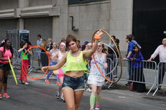 The 2015 NYC Dance Parade 78. Dance Parade New York is an entity of Dance Parade Inc. whose charitable mission is to promote dance as an expressive and unifying Stock Photos