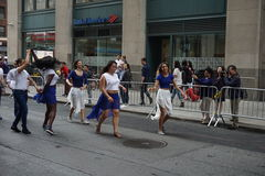 The 2015 NYC Dance Parade 81. Dance Parade New York is an entity of Dance Parade Inc. whose charitable mission is to promote dance as an expressive and unifying Royalty Free Stock Images