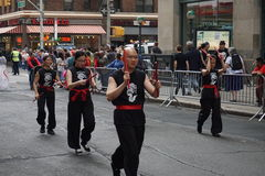 The 2015 NYC Dance Parade 86. Dance Parade New York is an entity of Dance Parade Inc. whose charitable mission is to promote dance as an expressive and unifying Royalty Free Stock Photography