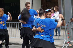 The 2015 NYC Dance Parade 92. Dance Parade New York is an entity of Dance Parade Inc. whose charitable mission is to promote dance as an expressive and unifying Royalty Free Stock Photos