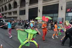 The 2015 NYC Dance Parade 95. Dance Parade New York is an entity of Dance Parade Inc. whose charitable mission is to promote dance as an expressive and unifying Royalty Free Stock Photos
