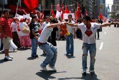 NYC: Dancers at Turkish Parade Royalty Free Stock Photos