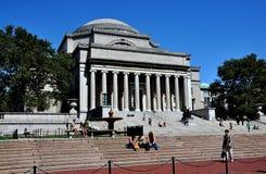 NYC: De bibliotheek van de Universiteit van Colombia Royalty-vrije Stock Afbeelding