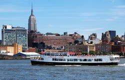NYC: De Boot van de Reis van de Lijn van de cirkel Stock Foto