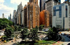 NYC: De Cirkel van Columbus Stock Foto's