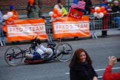 2014 NYC-de close-up van de Marathonraceauto Stock Afbeelding