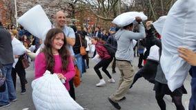 2016 NYC-de Dagdeel 3 1 van de Hoofdkussenstrijd Royalty-vrije Stock Fotografie