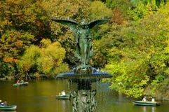 NYC: De Fontein van Bethesday van het Central Park Stock Afbeelding