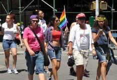 NYC: DE GANG 2012 VAN AIDS Stock Afbeeldingen