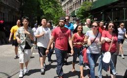 NYC: DE GANG 2012 VAN AIDS Royalty-vrije Stock Afbeeldingen