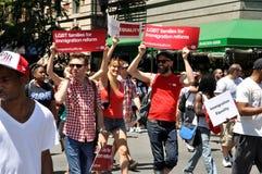 NYC: DE GANG 2012 VAN AIDS Stock Foto's