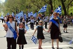 NYC: De Griekse Parade van de Dag van de Onafhankelijkheid royalty-vrije stock foto