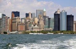 NYC: De Horizon van het Lower Manhattan Stock Fotografie