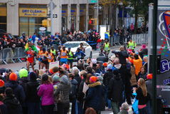 2014 NYC-de Leider Pack van Marathonmensen Stock Fotografie