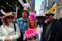 NYC: De mensen bij 2014 Pasen paraderen Royalty-vrije Stock Foto's