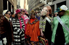 NYC: De mensen bij 2014 Pasen paraderen Stock Afbeeldingen