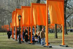 NYC: De Poorten door Christo in Central Park Royalty-vrije Stock Foto