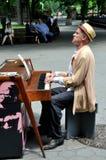 NYC: De Speler van de piano op de Wandelgalerij van het Centrale Park Royalty-vrije Stock Afbeelding
