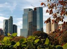 NYC: De uit het stadscentrum Torens van Manhattan Stock Foto's