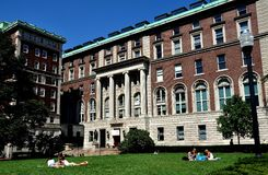 NYC: De Universitaire School van Colombia van Journalistiek Royalty-vrije Stock Afbeelding