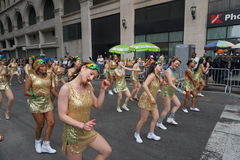 2015 NYC-Deel 2 37 van de Dansparade Stock Fotografie