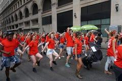 2015 NYC-Deel 3 1 van de Dansparade Stock Afbeelding