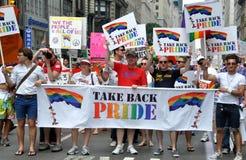 NYC: Desfile del orgullo de 2010 homosexuales Imagen de archivo libre de regalías