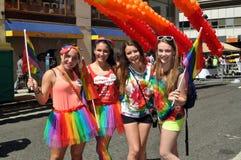 NYC: Desfile del orgullo de 2012 homosexuales Foto de archivo libre de regalías